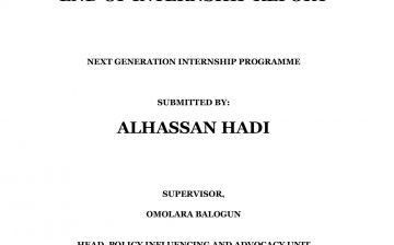 Internship Report by Hadi Alhassan