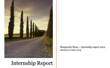 Internship Report by Marguerite Ifono