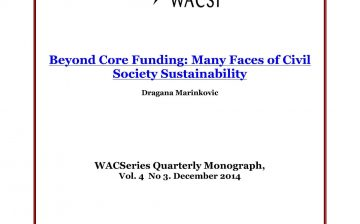 Beyond Core Funding Many Faces of Civil Society Sustainability