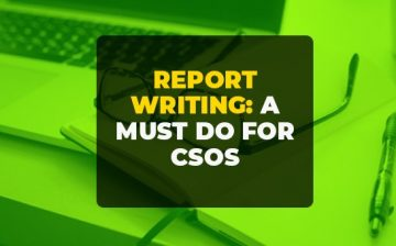 Report Writing: A Must Do for CSOs