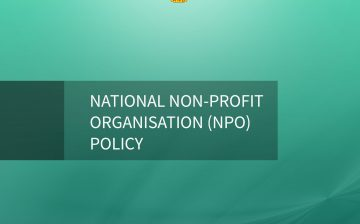 NPOS National Non-Profit  Organisation Policy